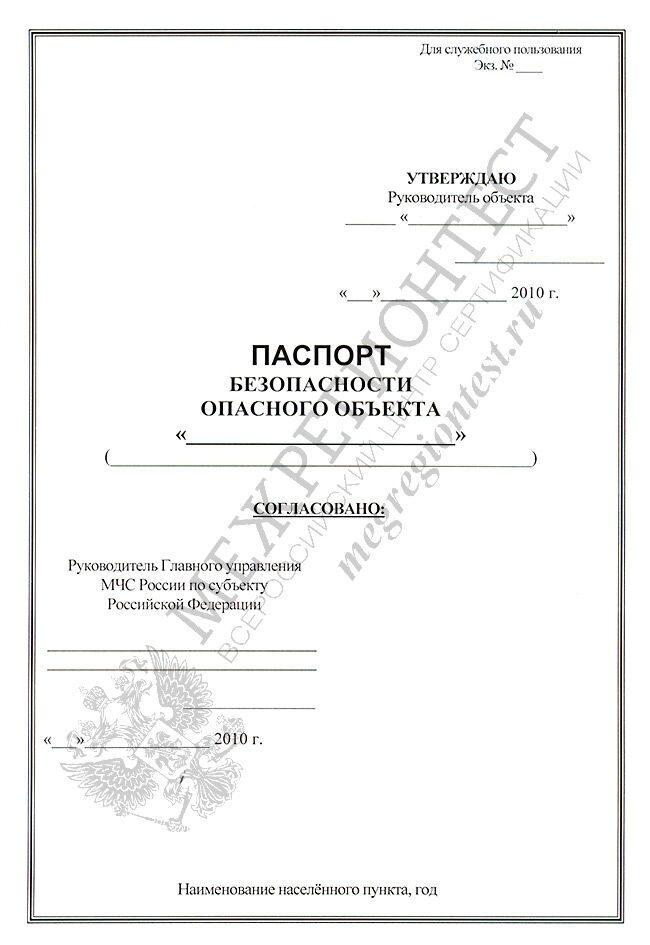 Образец Формы Паспорта Безопасности - фото 11